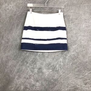 J crew cotton paint strips mini a line skirt